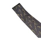 Skeletons Playing Sports Necktie, Grey - Silk, 1005521 [W41062], 넥타이 및 스카프