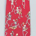 "Necktie ""Eating skeleton"", Red- Silk, 1005523 [W41064], 넥타이 및 스카프"